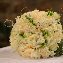 Bride Bouquet  by Pauline McBride - Wedding Details ( bouquet, winter, bridal, green, wedding, white, bride )