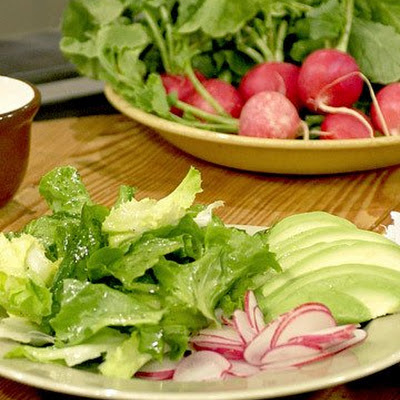 Escarole, Avocado, and Radish Salad