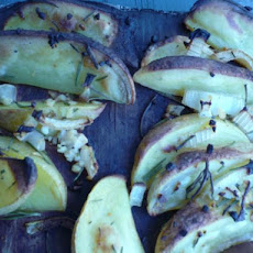 Cedar Plank Potato Wedges