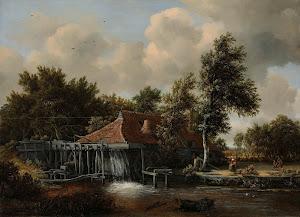 RIJKS: Meindert Hobbema: A Watermill 1664