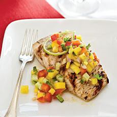 Grilled Mahimahi with Mango Salsa