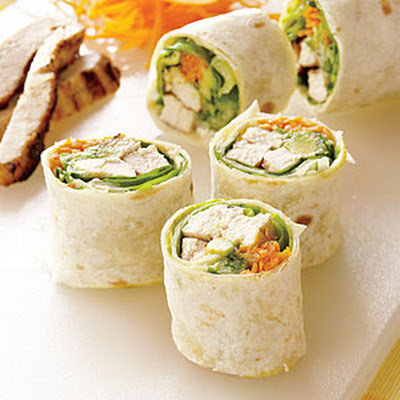 California-style Grilled-Chicken Rolls