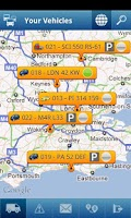 Screenshot of TomTom WEBFLEET Mobile