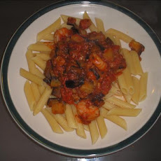 Spaghetti With Shrimp and Eggplant (Aubergine)