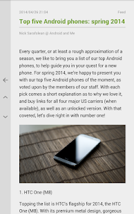 FeedMe (RSS Reader) Screenshot