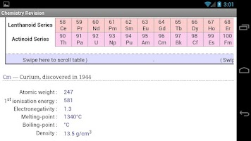 Screenshot of Revision Chemistry