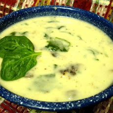 Spinach Sausage and Potato Soup