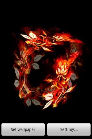 3D 燃えるバラ