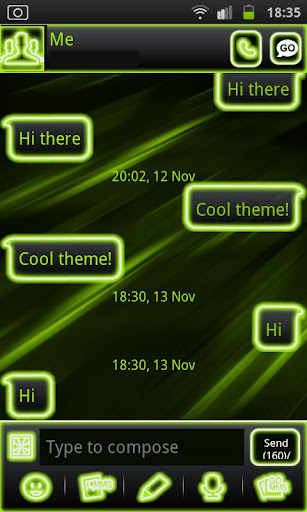 Neon Green Style Go Sms