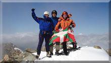 Pic du Midi d'Ossau mendiaren gailurra  2.884 m. - 2007ko ekainaren 2an