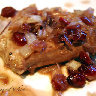 Braised Pork Chops with Cherry Sauce