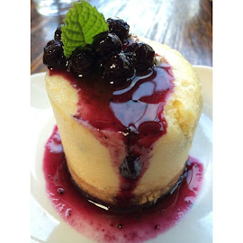 Blue cheese cheesecake. #nofilterneeded #cheesecake #StoneBrewingWorldBistroGardens by Catelyn Claunch - Food & Drink Eating