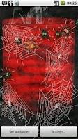 Screenshot of Bloody Spiders Live Wallpaper