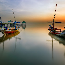 Boats by Yossy Ryananta - Transportation Boats ( shore, boats, sea, beach, sunrise )