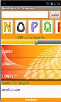 Screenshot of French-Soninke Dictionary