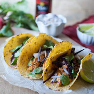 Thai Red Curry Chicken Tacos with Spicy Peanut Drizzle