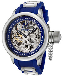 Invicta Men's Russian Diver Mechanical Blue Polyurethane and Stainless Steel