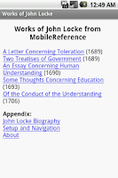 Screenshot of Works of John Locke