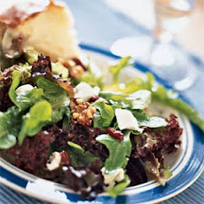 Mixed Greens with Goat Cheese, Cranberries, and Walnuts