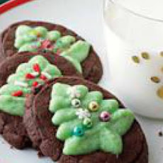 Chocolate-Mint Evergreen Cookies