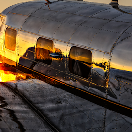 Gleaming Sunset by Chris Buff - Transportation Airplanes ( thunder, columbus, 2013, airplane, the, valley, www.aviationbuff.com, in, ga, photography, flight, flying, aviation, plane, warbird, fly, aircraft, aviationbuff, 2012, buff, chris, cbuff@charter.net, airshow )