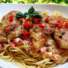 Chicken With Tomato Basil Cream Sauce