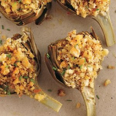 Baked Stuffed Artichokes With Pecorino