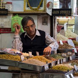 Spice Market  by Janet Marsh - City,  Street & Park  Markets & Shops ( spicemarket, man, delhi,  )