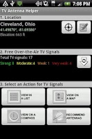 Screenshot of TV Antenna Helper