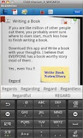 Screenshot of BookWriterLite (Notes/Book/Dia