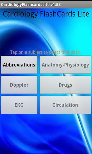 Cardiology Flashcards Lite