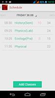 Screenshot of Diary (Timetable)