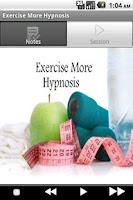 Screenshot of Exercise More Hypnosis