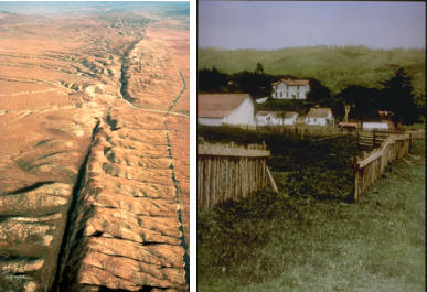 跨圣安德列斯断层的篱笆在1906年旧金山地震之后发生3米的错动