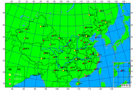 中国地震台分布图
