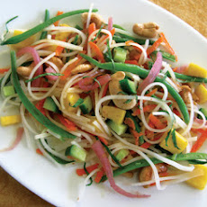 Coconut-Mango Rice Noodle Salad