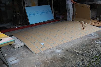 電照看板の板面の製作