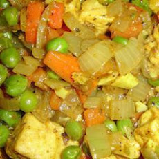 Spiced vegetables and Quorn