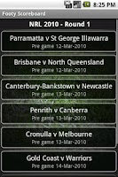 Screenshot of Footy Scoreboard