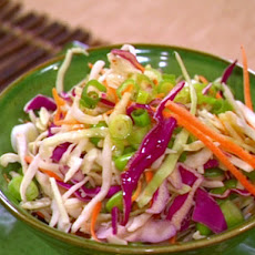 Edamame and Scallion Slaw with Orange Lime Dressing