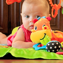 Tummy Time by Mary Withers Lawton - Babies & Children Children Candids ( babies )