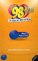 Screenshot of Rádio 98 FM Caruaru