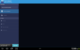 Screenshot of Text to Voice