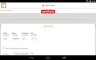 Screenshot of norisbank mobile
