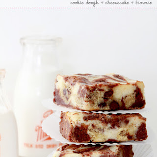 Cookie Dough Cheesecake Brownie Bars