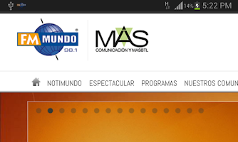 Screenshot of Radio FM Mundo