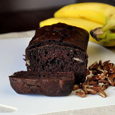 Double Chocolate Pecan Banana Bread