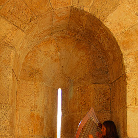 Angel in Jerusalem by Daniel Mandowsky - People Musicians & Entertainers