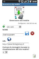 Screenshot of Mobile site generator+