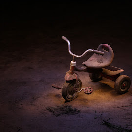 by Condie Friddle - Transportation Bicycles ( light painting, tricycle, led, outdoors, night shot )